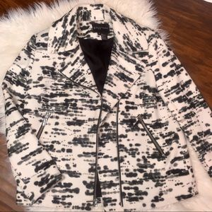 Etcetera Black and White Moto Zip Jacket